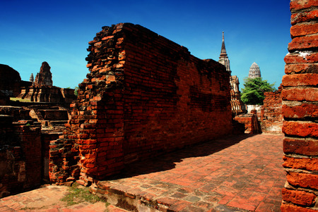 archaeological site: Ayuttaya archaeological site 2 Stock Photo