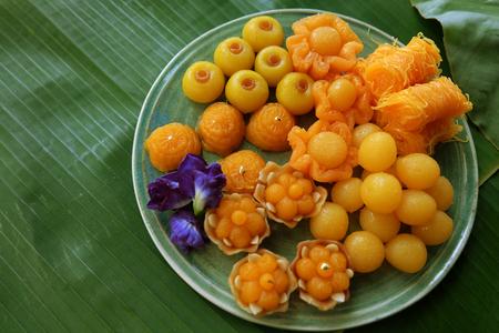 Thaise dessert goede betekenis over rijk of rijk.