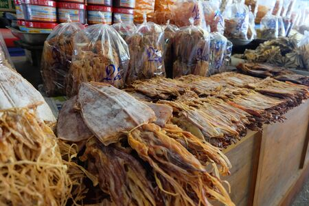 food preservation: Dried Squid., Thai Food Preservation, Thailand