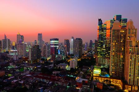 buliding: The Evening in Bangkok metropolitan, Bangkok ,Thailand.