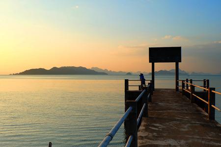 old pier: old pier. Thailand.