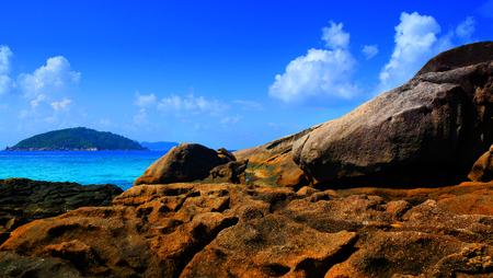 sand beach on the Island.,Similan island, Thailand.