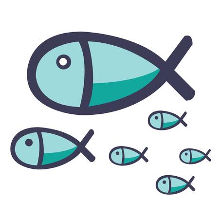 mackerel fish vector. Reklamní fotografie - 80034675