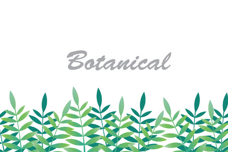 botanical tropical background vector. Illustration