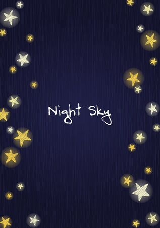 Stars on the night sky, wood board background vector for decoration on advertising design.