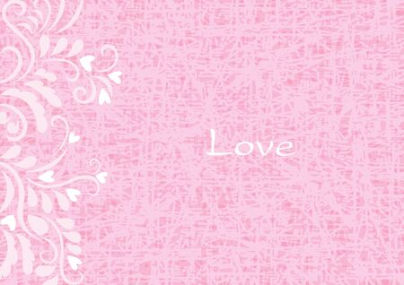 Abstract lover flower frame vector on pink background for decoration on Valentines day festival and wedding events. Иллюстрация
