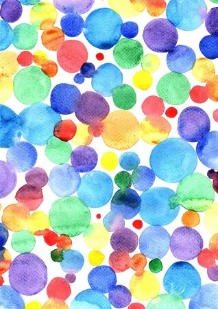 Colorful rainbow watercolor hand painting background for decoration on artwork.