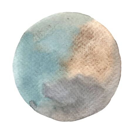Abstract grey and brown watercolor hand painting banner outer of circle shape for decoration artwork.