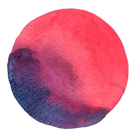 pink, purple and violet watercolor hand painting in circle shape decoration for mark, banner and icon background.