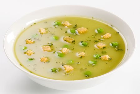 croutons: Pea Soup with Croutons