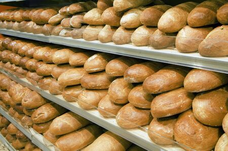 Variety of bread in a bakery photo