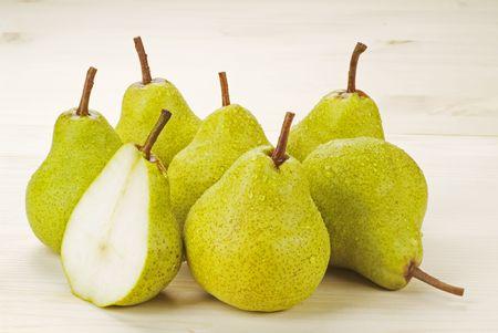 luscious: Group of Fresh Ripe Pears