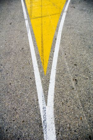 Road splitting into two directions photo