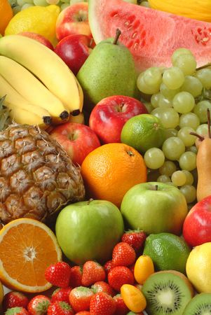 Variety of fresh ripe fruits photo