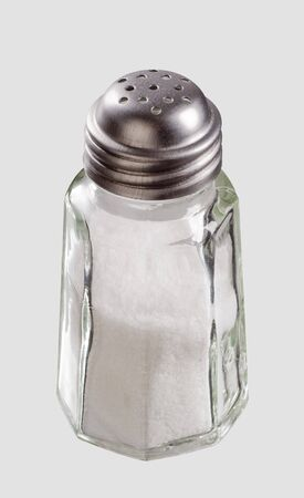 Glass salt shaker with stainless steel top Stock Photo - 5077472