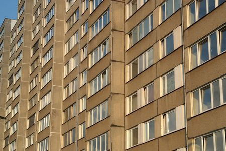 communists: Block of flats - prefabricated panel structure