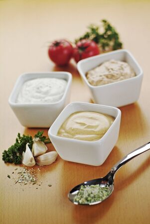 dipping: Dipping sauces  Stock Photo