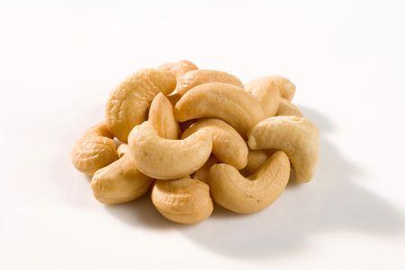 cashews: Handful of roasted cashews  Stock Photo
