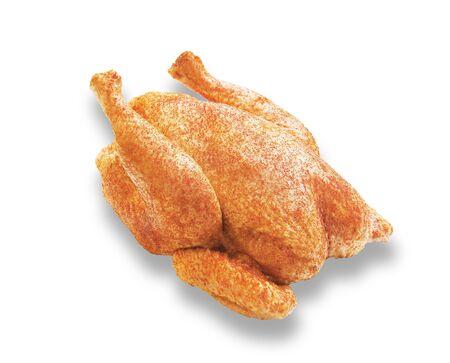 flavored: Spicy chicken on white background