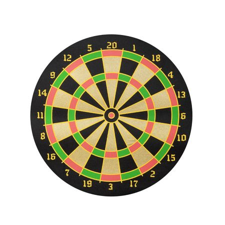 Dart board isolated on white background - front view