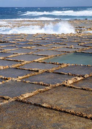 evaporation: Salt evaporation ponds, Malta