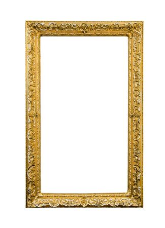 Antique picture frame isolated on white photo