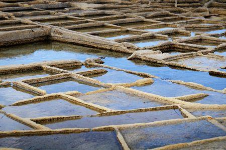 evaporation: Salt evaporation ponds   Stock Photo