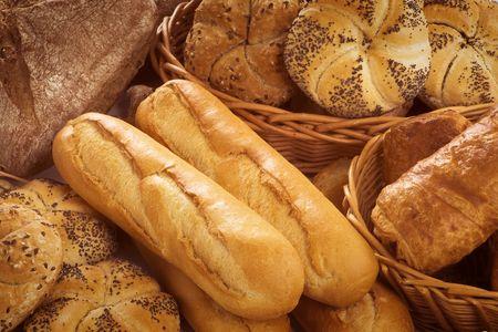 frans brood: Closeup van vers Frans brood en gebak