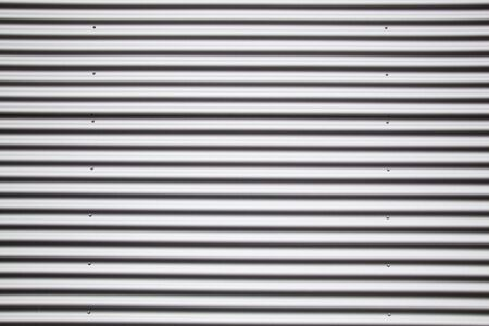 galvanised: Detail of corrugated metal sheet  - full frame