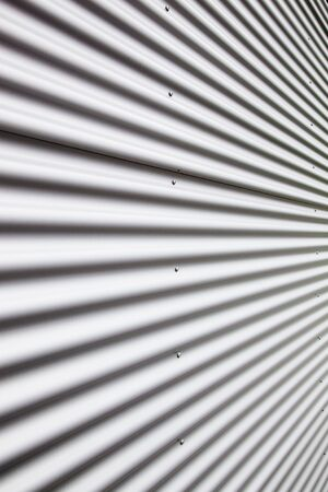 Corrugated metal sheet photo