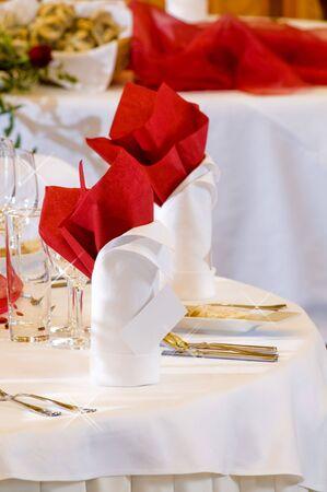 Wedding place setting   photo