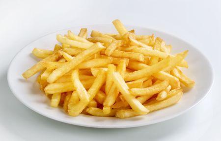 frites: Tasty French fries  Stock Photo