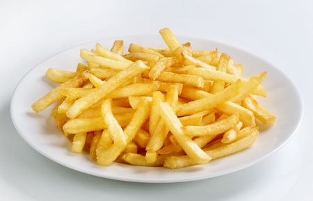 accompagnement: Tasty frites fran�aises Banque d'images