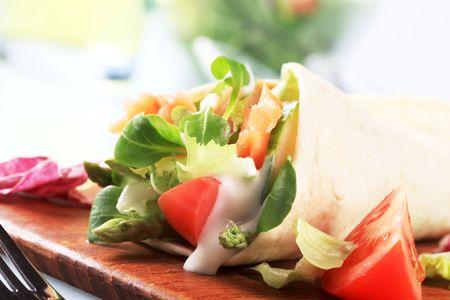 tortilla wrap: Flauta de tortilla Foto de archivo