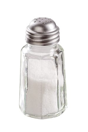 Glass salt shaker with stainless steel top Stock Photo - 5401153