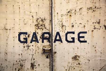 Detail of rusty garage door Stock Photo - 5441684