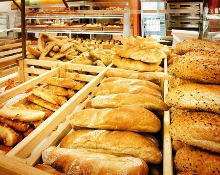 Assortment of fresh bread in a supermarket Stock Photo - 5441676