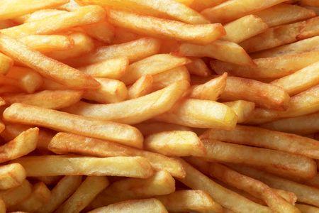 accompaniment: Macro shot of tasty French fries