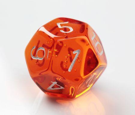 dungeons: Orange 12-sided die