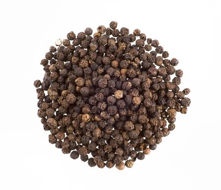 peppercorns: Heap of black peppercorns  Stock Photo