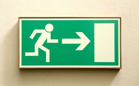 Emergency exit sign  photo
