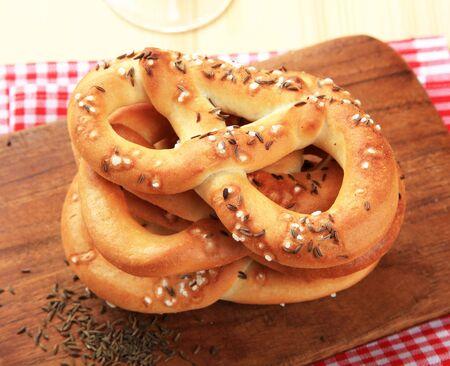 pretzels: Soft pretzels  Stock Photo