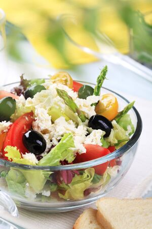 Bowl of fresh Greek salad  photo