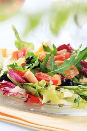 Chicken and vegetable salad  photo
