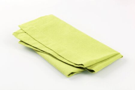 dishcloth: Light green napkin  Stock Photo
