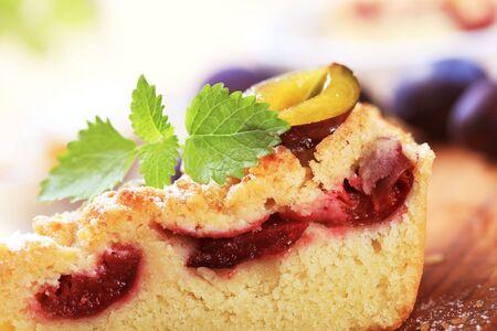 Slice of plum cake  photo