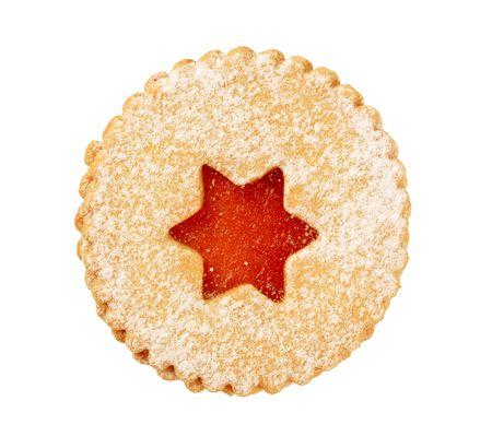Shortbread cookie with jam filling  photo