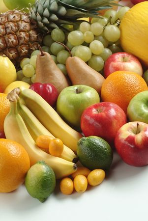 Various kinds of fresh fruit photo