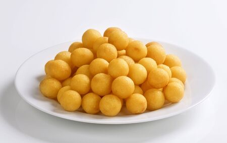Heap of crisp croquettes  on a plate photo