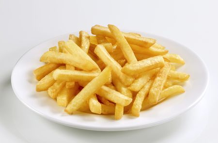 french fries plate: Serving of French fries